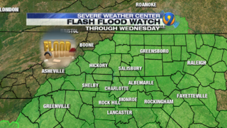 TRACKING: Showers, flash flood watches continue through Tuesday