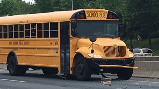 12 students taken to hospital after school bus crash in east Charlotte