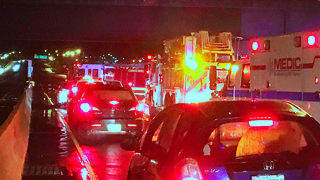 Hit-and-run crash, fuel spill blocks portion of Independence Blvd.