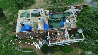 SKYDRONE9 IMAGES: Iredell County home destroyed after powerful storms…