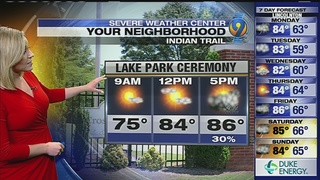 FORECAST: Muggy Memorial Day could see afternoon storms