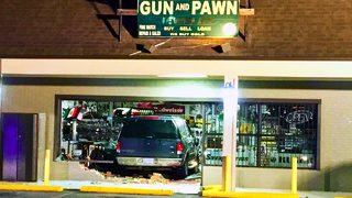 Store owner says burglars intentionally crashed into pawn shop