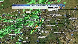 FORECAST: Overnight showers soak Charlotte area