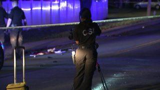 IMAGES: Man shot at northwest Charlotte bus stop