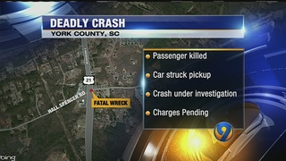 1 dead in two-vehicle wreck in York County