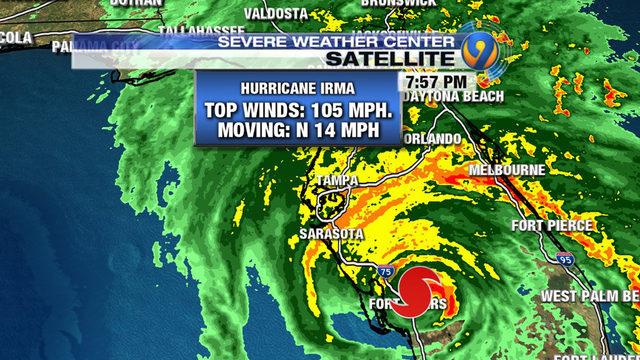 Orlando Doppler Weather Map.Hurricane Tracker Irma A Cat 2 Hurricane Weakens To 100 Mph Winds
