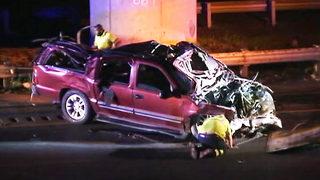IMAGES: Driver killed when SUV crashes off I-485 flyover bridge