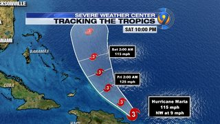 HURRICANE TRACKER: Maria strengthens after ravaging Puerto Rico