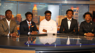Big 22 finalists tour at WSOC-TV studio