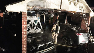 Car destroyed after flames break out in Salisbury carport