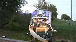GALLERY: 1 seriously hurt in accident involving US Postal truck