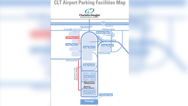Airport to relocate cellphone lot   WSOC-TV on