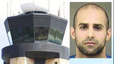 Air traffic controller charged with having pipe bomb