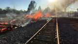 Fire involving 200 railroad ties burns for several hours in Statesville