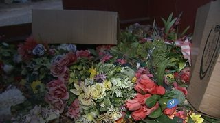 IMAGES: Gravesite mementos trashed without notice, families say