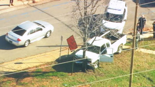 Police chase ends when suspect crashes into tree north of uptown