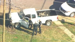PHOTOS: Police chase ends north of uptown Charlotte