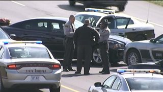 Troopers: Man in custody after driving wrong way on I-485, fighting police