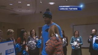 Panthers honor fan with $100,000 donation