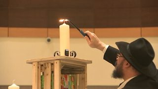 Dozens gather at SouthPark to celebrate Festival of Lights