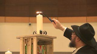 Dozens gather at SouthPark to celebrate Festival of Lights