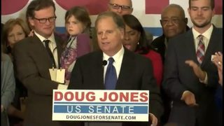 Doug Jones spins upset over Roy Moore in US Senate race in Alabama