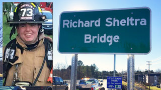 Bridge dedicated in honor of fallen Pineville firefighter Richard Sheltra