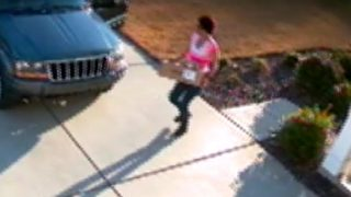 Thieves caught on camera stealing package off local family