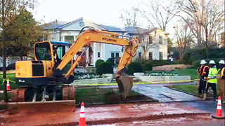 Busted water main to close part of busy Myers Park road for hours