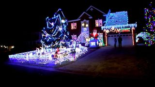 the smaragdis family has been decorating since 1996 and it gets bigger every year wsoctvcom - Christmas Light Show Raleigh Nc