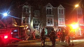 Firefighters battle blaze at uptown condo complex