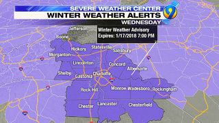 TRACKING: Winter storm warning in effect for area