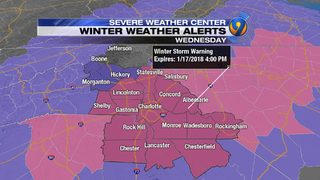 TRACKING: Winter storm warning in effect as flurries begin to fall in mountains