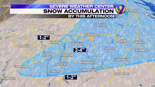 TRACKING: 2-4 inches of snow expected in Charlotte Wednesday