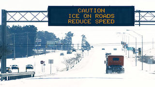 Slushy roads to turn to ice as temperatures plunge overnight