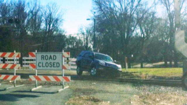 Charlotte Railroad Crossing Closures: Closed railroad