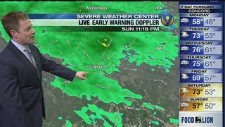 11 p.m.: John Ahrens Sunday night forecast