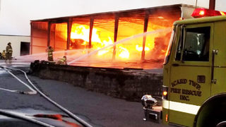 Firefighters contain massive blaze at Burke County lumber company