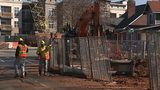 Construction underway on the streetcar project