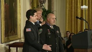 Avery County lieutenant receives Medal of Valor from President Trump