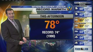 FORECAST: Temps to challenge record highs again as warming trend rolls on