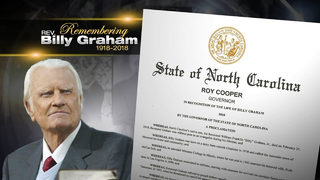 Gov. Cooper issues proclamation in honor of Rev. Graham