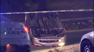 PHOTOS: Police presence at crash scene in Pineville