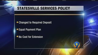 Statesville makes changes to utility services policy