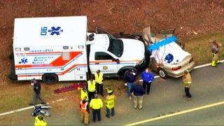 Man killed; wife, 2 children hurt after ambulance hits car head-on in Chester Co.
