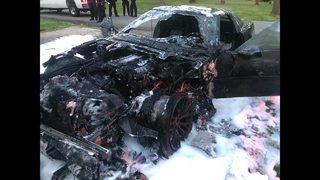 IMAGES: 1992 Corvette set on fire