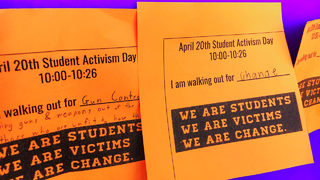 CMS students take part in nationwide walkout for tougher gun control