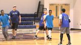 CMPD interacts with children through basketball
