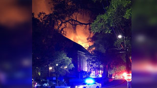 Historic South Carolina church cancels services after large fire