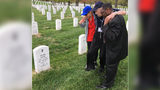 When WWII vet couldn't walk to his wife's grave, 2 volunteers carried him
